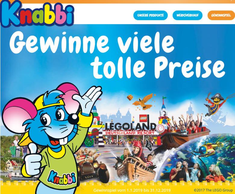 Knabbi Gewinnspiel Legoland