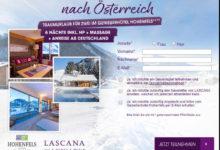 Lascana Gewinnspiel Wellnessreise nach Österreich