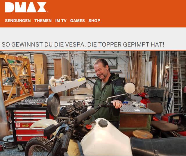 DMAX-Gewinnspiel Vespa V50 Spezial gewinnen