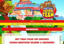 Ferdi Fuchs Gewinnspiel Familienwochenende im Serengeti-Park