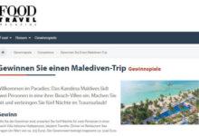 Food and Travel Gewinnspiel Malediven-Trip gewinnen