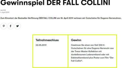 GQ-Magazin Gewinnspiel 200 €-Gutscheinen für eine Dugena-Herrenuhr gewinnen