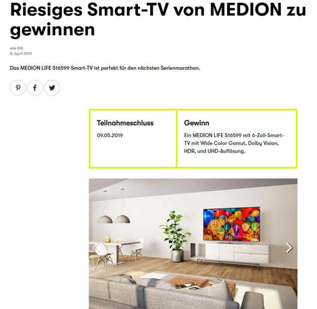 GQ Smart-TV von MEDION gewinnen