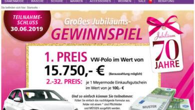 Meyermode Gewinnspiel VW Polo gewinnen