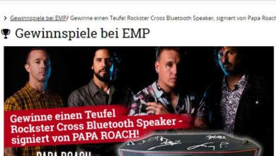 EMP Gewinnspiel Bluetooth-Stereo-Speaker gewinnen