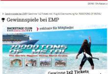 EMP Gewinnspiel Metal Kreuzfahrt gewinnen