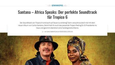 Gamez Gewinnspiel Handsignierte Gitarre von Santana gewinnen