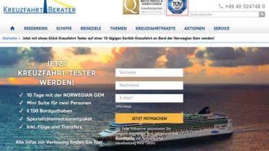 Kreuzfahrtberater.de Gewinnspiel Kreuzfahrttester werden