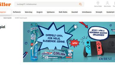 Müller Gewinnspiel Nintendo Switch gewinnen