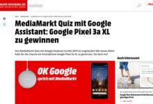 Mediamarkt Gewinnspiel Google Pixel 3a XL gewinnen