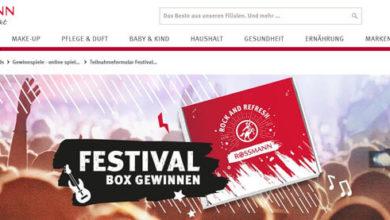 Rossmann Gewinnspiel Festival-Box gewinnen