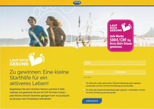 Scholl Gewinnspiel 500 € gewinnen