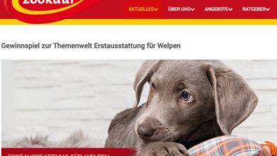 Zookauf.de Gewinnspiel Erstausstattung für Welpen gewinnen
