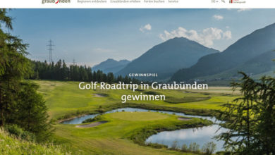 Graubuenden Gewinnspiel Golf-Roadtrip gewinnen