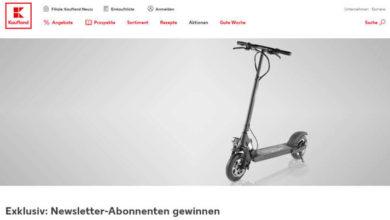 Kaufland Gewinnspiel E-Scooter gewinnen