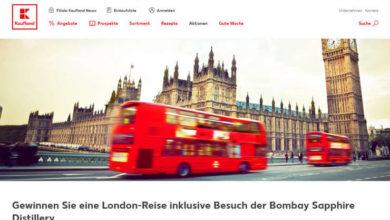 Kaufland Gewinnspiel London-Reise gewinnen