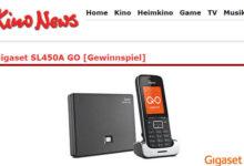 KinoNews Gewinnspiel Telefon von Gigaset für Festnetz- und Internettelefonie gewinnen