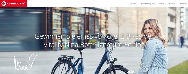 Kreidler Gewinnspiel E-Bike gewinnen