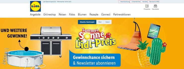 Lidl Gewinnspiel Coole Produkte aus Onlineshop gewinnen