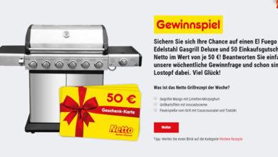 Netto Gewinnspiel Gas-Grill gewinnen