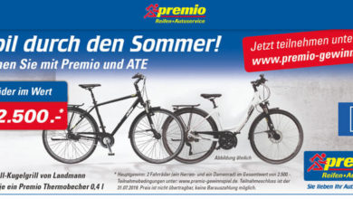 Premio Gewinnspiel 2 Fahrräder gewinnen