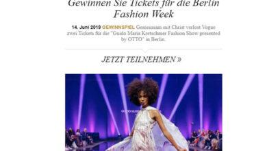 Vogue Gewinnspiel Tickets für Berlin Fashion Week gewinnen