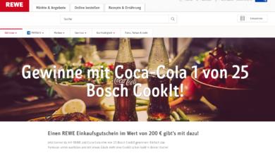 coke Gewinnspiel